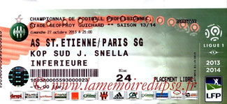 Ticket  Saint-Etienne-PSG  2013-14