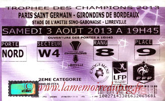 Ticket  PSG-Bordeaux  2013-14