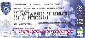 Ticket  Bastia-PSG  2013-14