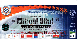Ticket  Montpellier-PSG  2013-14