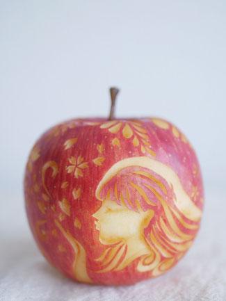 フルーツカービング りんごカービング