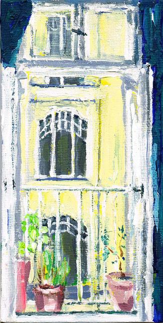Blick des ranzösischen Balkons auf die Friedbergstr 38  .  VERKAUFT