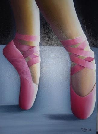 des chaussons de danse sur pointe