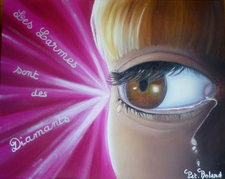 un oeil, un seul, rempli de larmes