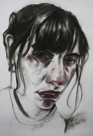 Sorrow, Kohle/Pastell auf Papier, 0,35 x 0,5m