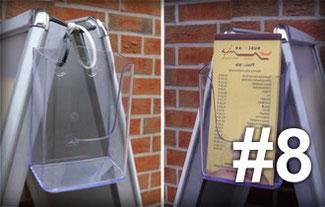 Schaukasten Tipp #4: Bauen Sie ein Flyerbox, Prospekthalter an Ihren Schaukasten