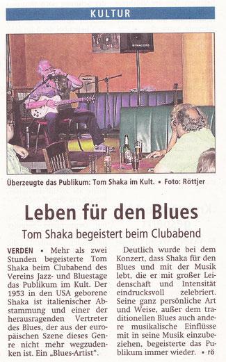 Bericht in der Verdener Aller Zeitung vom 1. September 2014