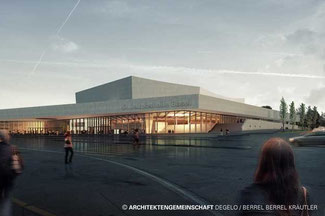 Die neue St. Jakobshalle in Basel