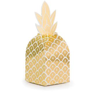 boites à cadeaux invités ananas déco anniversaire tropical - tropical party decoration