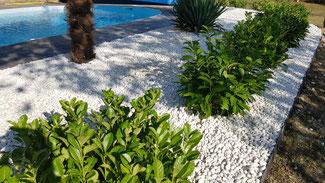 Décoration de jardin, preparation des sols, beton imprimé
