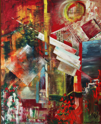 "Hworost Maria, ""Two Times"", Öl auf Leinwand, 100 x 80 cm, 2012, gerahmt"