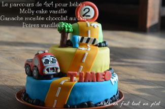 molly cake, vanille, poire, chocolat, cake design