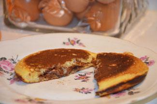 chandeleur pancakes nutella