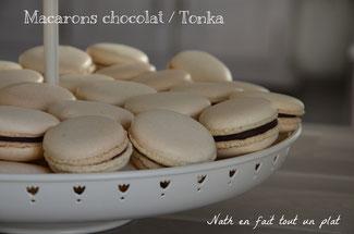 macarons chocolat / tonka