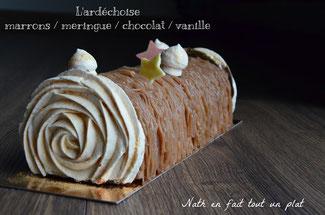 marron, vanille, chocolat, meringue