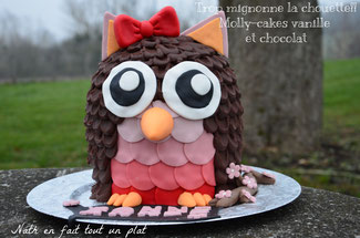 molly cake vanille et chocolat, cake design