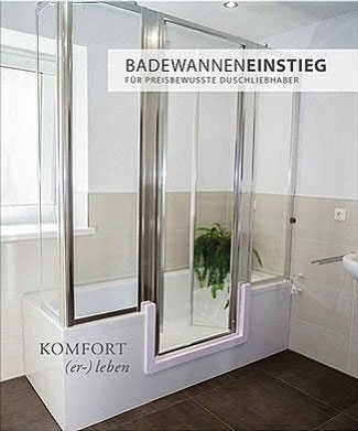 barrierefreies bad wanne zur dusche begehbare badewanne bad teilsanierung mit system. Black Bedroom Furniture Sets. Home Design Ideas