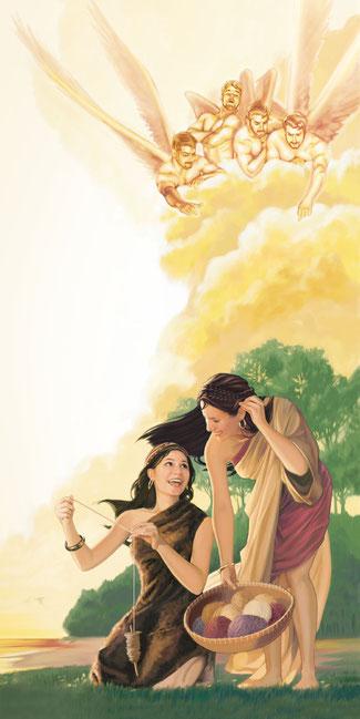 1 Lorsque les hommes eurent commencé à se multiplier à la surface de la terre et que des filles leur furent nées, 2 les fils de Dieu virent que les filles des hommes étaient belles et ils en prirent pour femmes parmi toutes celles qu'ils choisirent.