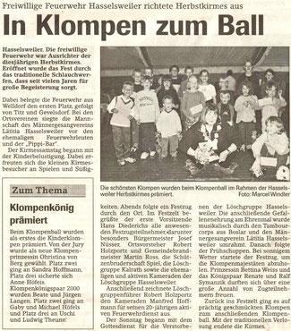 Jülicher Nachrichten vom 07.09.2000