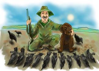 crow hunting, blind, decoy, decoys
