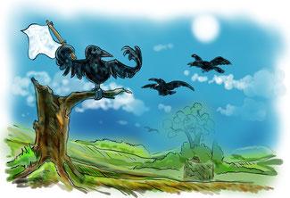 crow hunting, sentinels, decoys