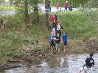 Jugendübung Menschenrettung am Stainzbach 27.09.2014
