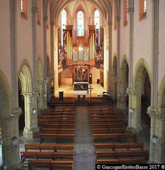 La nef église de Plaisance du Gers