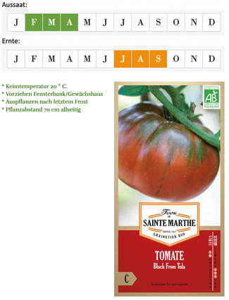 Tomate Black from Tula von Ferme de Sainte Marthe bei www.the-golden-rabbit.de
