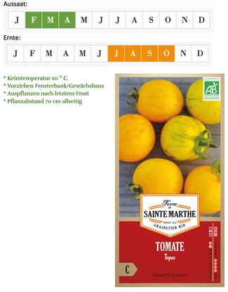 Tomate Topaz von Ferme de Sainte Marthe bei www.the-golden-rabbit.de