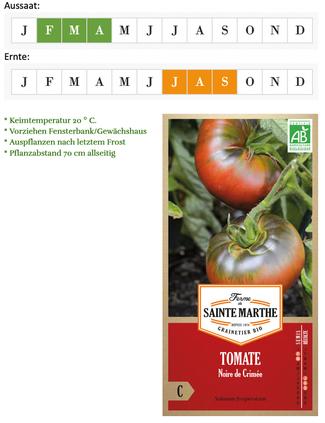 Tomate Schwarze Krim von Ferme de Sainte Marthe bei www.the-golden-rabbit.de