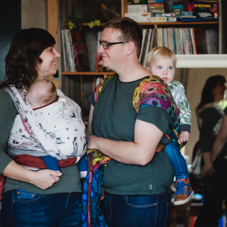 draagconsult babydragen draagdoek natibaby koppel ouders