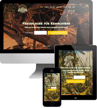Camp Breakout Jimdo responsive Webdesign