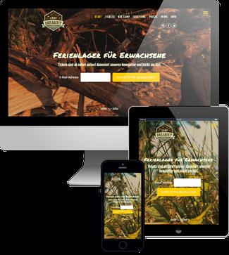Camp Breakout Jimdo responsive Webdesign