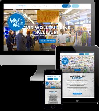 Hanseatic Help e.V. - Jimdo responsive Webdesign