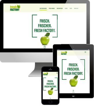 Fresh Factory Jimdo responsive Webdesign