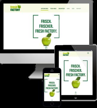 Fresh Factory Jimdo responsive Webdesign