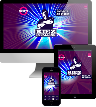 Kiez is Calling Party - Jimdo responsive Webdesign
