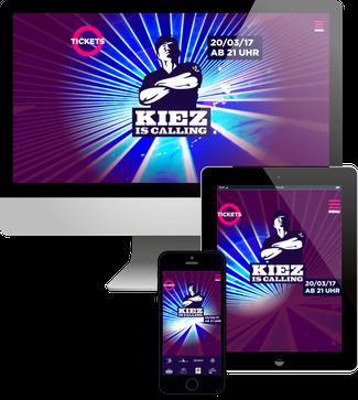 Kiez is Calling Party - Jimdo responsive Webdesign