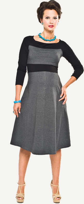 Black Long Sleeve Maternity Dress
