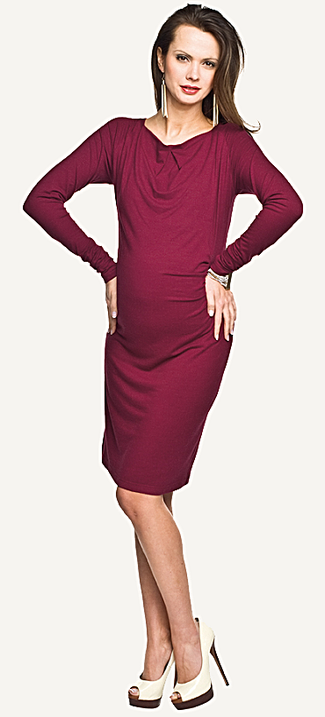 "Torelle Maternity Dress ""Serpa"" - Burgundy"