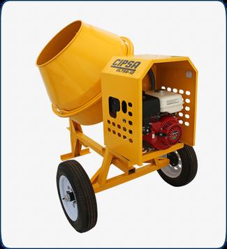 Revolvedora para concreto un saco  Cipsa modelo Ultra 10 con motor Mpower de 9 HP