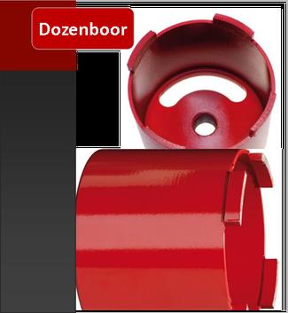 Prodito diamant dozenboor of klokboor verkrijgbaar in diameter  68 mm 82 mm 102 mm en 112 mm voor het boren van elektriciteit potten in poroton en gevelsteen.