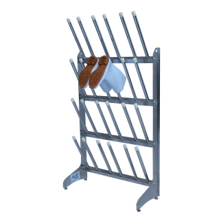 Stainless boots rack