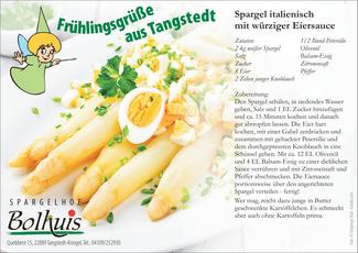 Rezept zu Spargel in würziger Eiersoße | Spargelhof Bolhuis