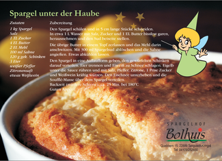 Rezept zum Spargel unter der Haube | Spargelhof Bolhuis