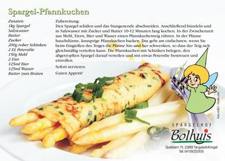 Rezept für Spargel-Pfannkuchen | Spargelhof Bolhuis