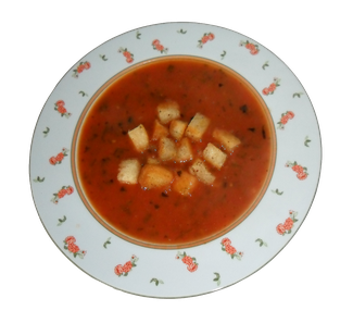 Tomatensuppe mit Croussons