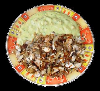 Zwiebelfleisch mit Mauke