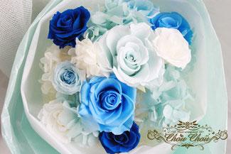 プロポーズ 花束 プリザーブドフラワー ホテルミラコスタ ディズニー シー 薔薇 ブルー