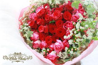 プロポーズ 花束 ハート 薔薇